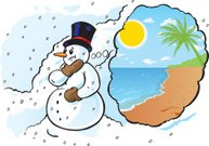 Snowman needs a vacation