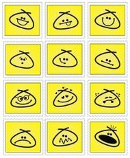 Emoticon Smiley Stamp Set