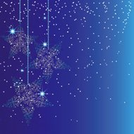 Abstract sparkling blue christmas star background