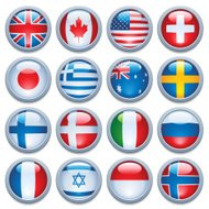 World flag media buttons