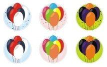 Holiday Balloon Stickers