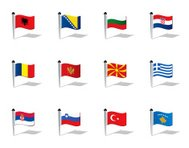 World Flags: Eastern Europe and Balkan States