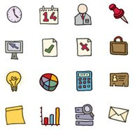 Office icon doodle icons