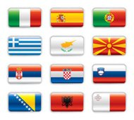 Extra glossy flags - South Europe & Balkan