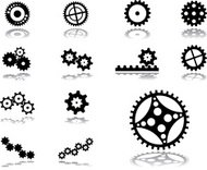 Set icons. Gears.