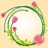 Abstract rose flower frame background