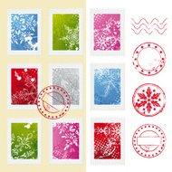 Christmas Winter Postage Stamps