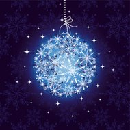 Abstract sparkling Christmas ornament