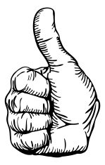 thumbs-up hand
