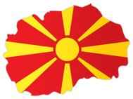 Macedonia map with flag