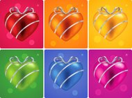 Colorful Heart with ribbon
