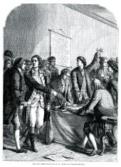 Signing the declaration of American Independence