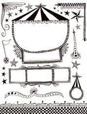 circus style doodle elements