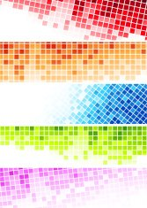Set of abstract banners - colourful squares