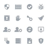 Network + Security Icons | Letterpress Series