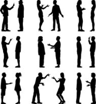 People Talking Silhouettes (Highly Detailed)
