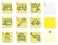 Vehicle post it note icons