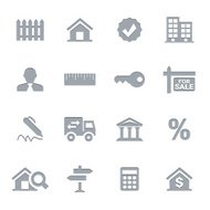 Real Estate Icons   Letterpress Series