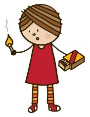 Girl with matches