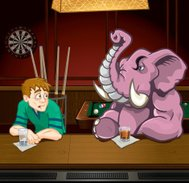 Drunk Guy and Pink Elephant