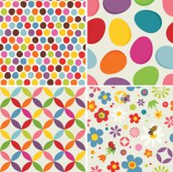 Four Easter seamless pattern