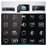 Video players features and specifications icons