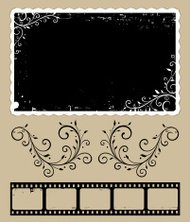 Grunge photo and Filmstrip