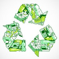 Recyclable materials symbol