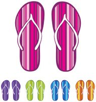 Flip flop sandals - Isolated Vector illustration