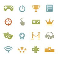 Video Game Icons   Letterpress Series