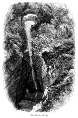 The Devil's Bridge Falls, Mid-Wales (Victorian engraving)