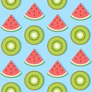 Strawberry Kiwi Seamless Pattern