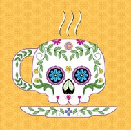 Cute Sugar Skull Tea Cup