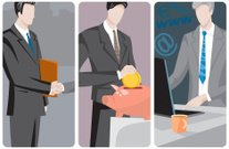 Businessmen Vector Illustrations Series