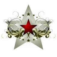 star with ornate elements