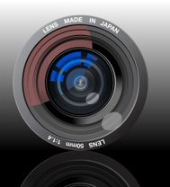 Camera Lens - Vector Illustration