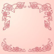 Rose Scroll frame in pink