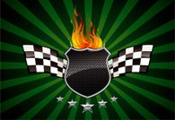 Flaming grilled Racing Shield