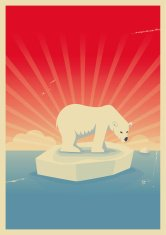 Save polar bear poster