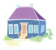 house, vector illustration