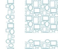 Picture Frames Blank Seamless Patterns Set