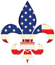 Fleur de Lys with American Flag design