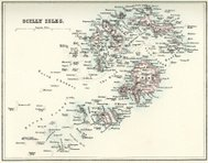 Map of the Scilly Isles