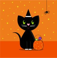 Trick or Treating Halloween Cat Icon