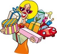 Woman on shopping