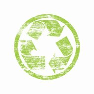 green recycling stamp