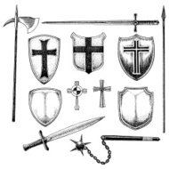 Medieval Weaponry - Shields and Swords