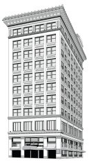 Tall downtown building vector illustration