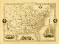 Vintage Decorative Map of USA (XXXL Resolution Image)