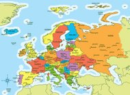 Europe map countries and cities